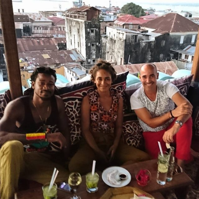 Aperitvo time with these beautiful people at the emersonzanzibar rooftophellip