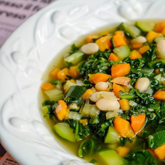 Love this summer minestrone! Get the full recipe in DolceFamigliahellip